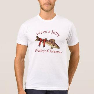 "T-shirt Drôle ""ayez Noël gai de brochets vairons """