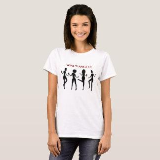 T-shirt drôle d'amateur de vin de silhouette des