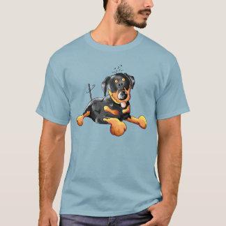 T-shirt drôle de bande dessinée de rottweiler