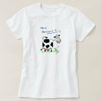 T-shirt drôle de bande dessinée de vache folle je