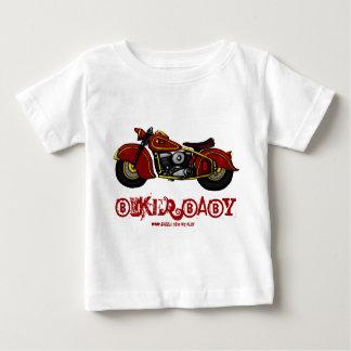 T-shirt drôle de bébé de cycliste