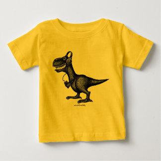 T-shirt drôle de bébé de dinosaure de musique