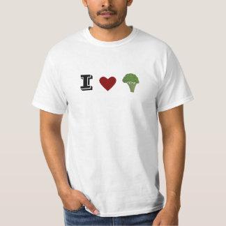 T-shirt drôle de brocoli de coeur d'I