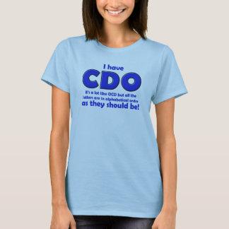 T-shirt drôle de CDO OCD