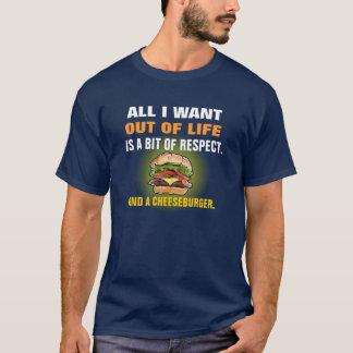 T-shirt drôle de cheeseburger
