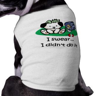 T-shirt drôle de chien vêtements pour animaux domestiques