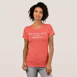 T-shirt drôle de faire-part de grossesse