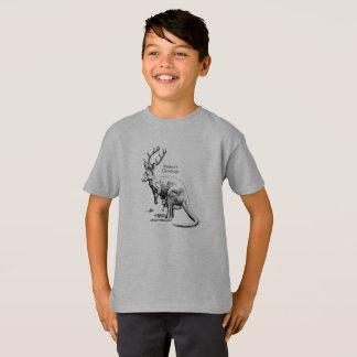 T-shirt drôle de Joyeuses Fêtes de Roodeer de Noël