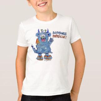 T-shirt drôle de monstre de Popsicle d'Anythings