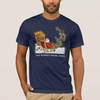 T-shirt drôle de Noël de Chambre de Schmidt