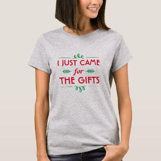 T-shirt drôle de Noël je suis juste venu pour les