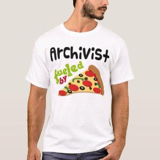 T-shirt (drôle) de pizza d'archiviste