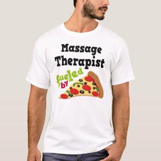 T-shirt (drôle) de pizza de thérapeute de massage