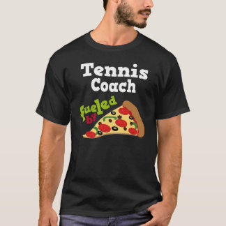 T-shirt (drôle) de pizza d'entraîneur de tennis
