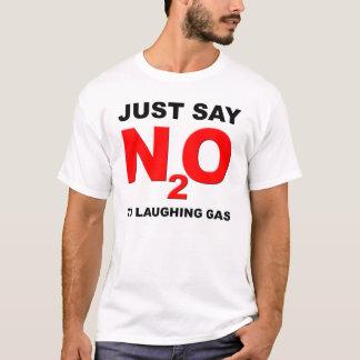 T-shirt drôle de protoxyde d'azote de gaz hilarant