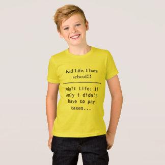 T-shirt drôle d'école d'enfants de la vie d'enfant