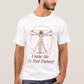 T-shirt drôle d'homme de Vitruvian