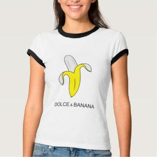 T-shirt drôle d'humour de dolce et de banane