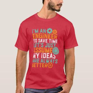 T-shirt drôle d'humour d'ingénierie je suis un