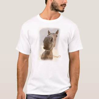 T-shirt drôle du cheval des hommes