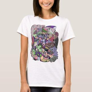 T-shirt drôle embrouillé d'art d'animaux