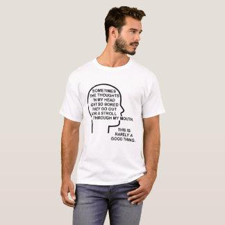 T-shirt drôle ennuyé de pensées