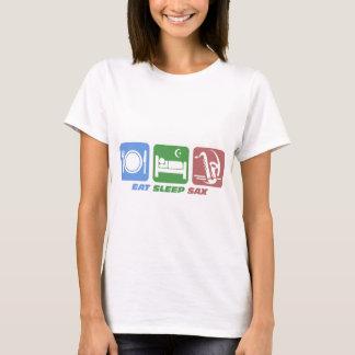 T-shirt drôle mangez le saxo de sommeil