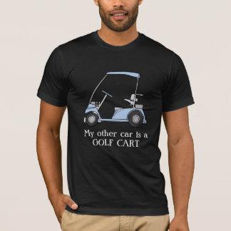"""T-shirt Drôle """"mon autre voiture est un chariot de golf """""""