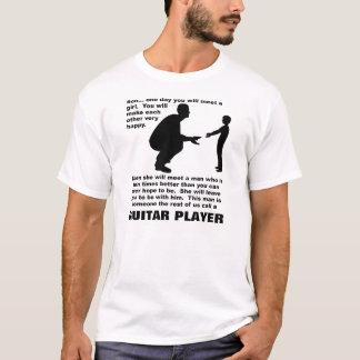 T-shirt drôle paternel de joueur de guitare de