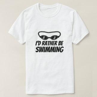 T-shirt drôle pour le nageur - je nagerais plutôt