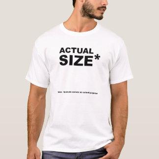 T-shirt drôle réel de Size* blanc