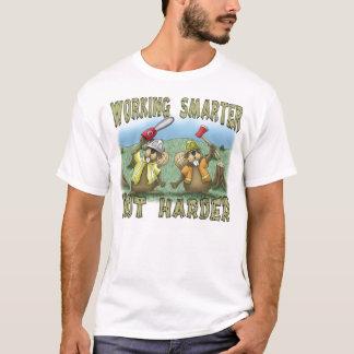 T-shirt drôle : Travail plus futé