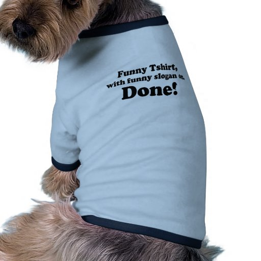 T-shirt drôle vêtements pour chien