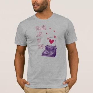 T-shirt Drôle vous êtes juste mon type chemise de