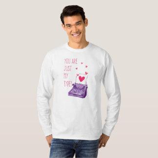 T-shirt Drôle vous êtes juste mon type chemise de douille