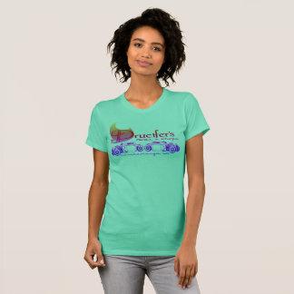 T-shirt Drucifer, tiges et côtelettes, pièce en t de dames