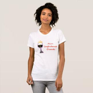 T-shirt Drunks malheureux pauvre (lite)