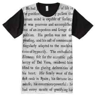 T-shirt du 18ème siècle des textes