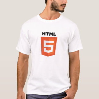 T-shirt du blanc HTML5