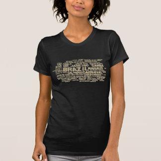T-shirt du BRÉSIL de scintillement