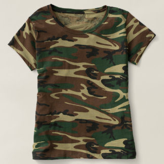 T-shirt du camouflage des femmes