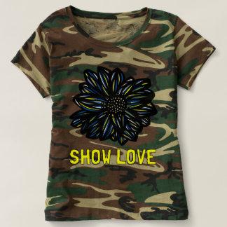 """T-shirt du camouflage des femmes """"montrez amour"""""""