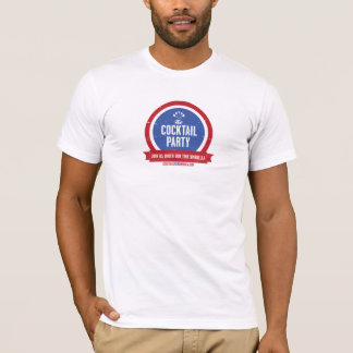 T-shirt du cocktail des hommes officiels