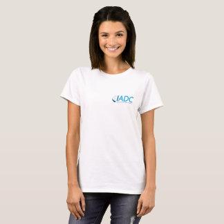 T-shirt du coton des femmes d'IADC - blanc
