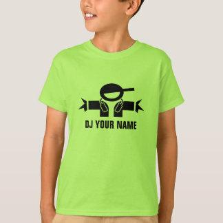 T-shirt du DJ de vert de chaux de Personalizable