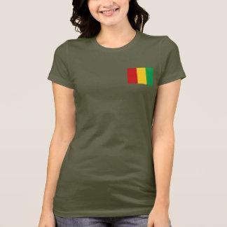 T-shirt du DK de drapeau et de carte de