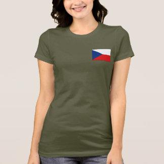 T-shirt du DK de drapeau et de carte de Czechia