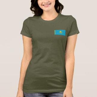 T-shirt du DK de drapeau et de carte de Kazakhstan