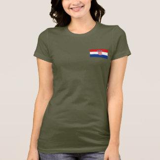 T-shirt du DK de drapeau et de carte de la Croatie