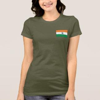 T-shirt du DK de drapeau et de carte de l'Inde